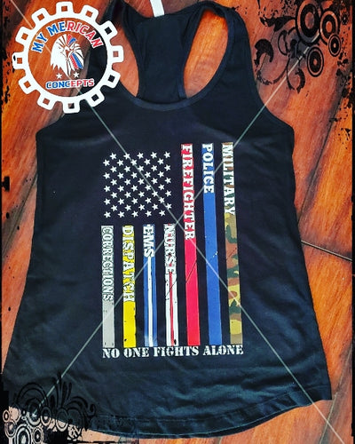 No One Fights Alone-Shirt/Tank!