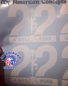 22 A Day decal