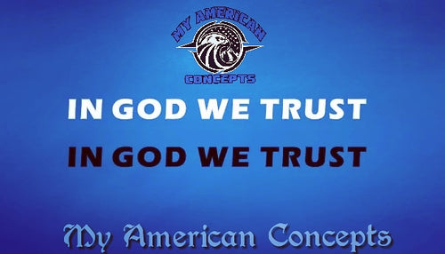 In God We Trust- Reguarl Text Decal!