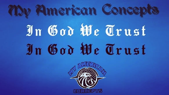 In God We Trust- Script Text Decal!