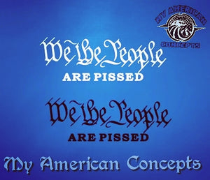 """We The People... are pissed"" decal"