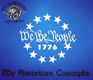 """ We The People 1776"" edition decal"