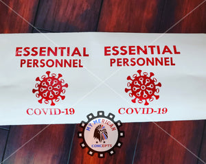 Essential Personnel Decal!