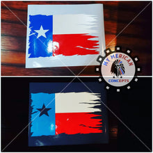 Load image into Gallery viewer, Distressed Texas Decal Flag Set-Reflective!