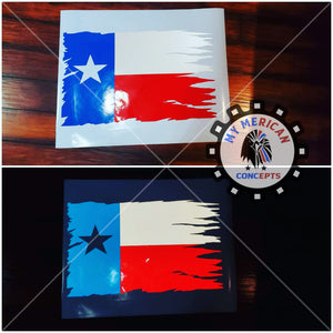 Distressed Texas Decal Flag Set-Reflective!