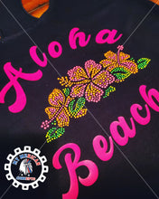 Load image into Gallery viewer, Aloha Beaches Rhinestone- Tank!!