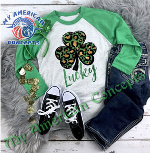 St. Patty's Day Leopard Print Shirt!