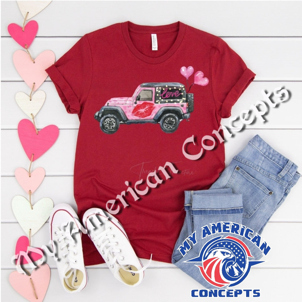 Valentines Day Jeep Edition Shirt!