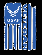 Load image into Gallery viewer, USAF Veteran Flag Decal