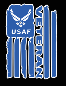 USAF Veteran Flag Decal