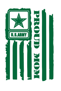 """U.S Proud Mom"" Military Decal!"