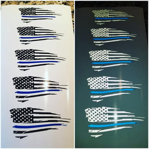 Police Edition Distressed flags!