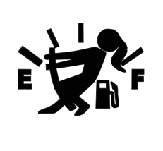 Gas Gauge Girl- Jeep Girl Decal