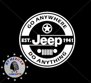 """Go Anywhere Do Anything""- Jeep Girl Tank!"
