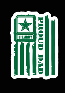 U.S Proud Dad Military Decal