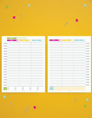Time Blocker Printable Planner Set