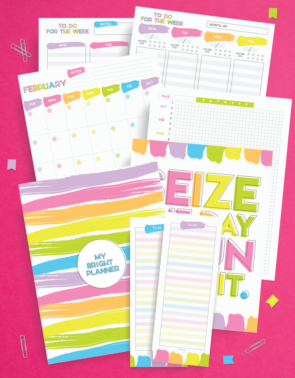 printable planner pages | weekly planner