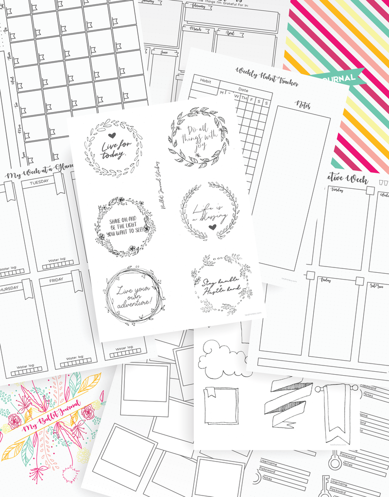 bullet journal ideas and bullet journal printables