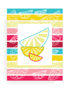 3 Page Citrus Print Wall Art