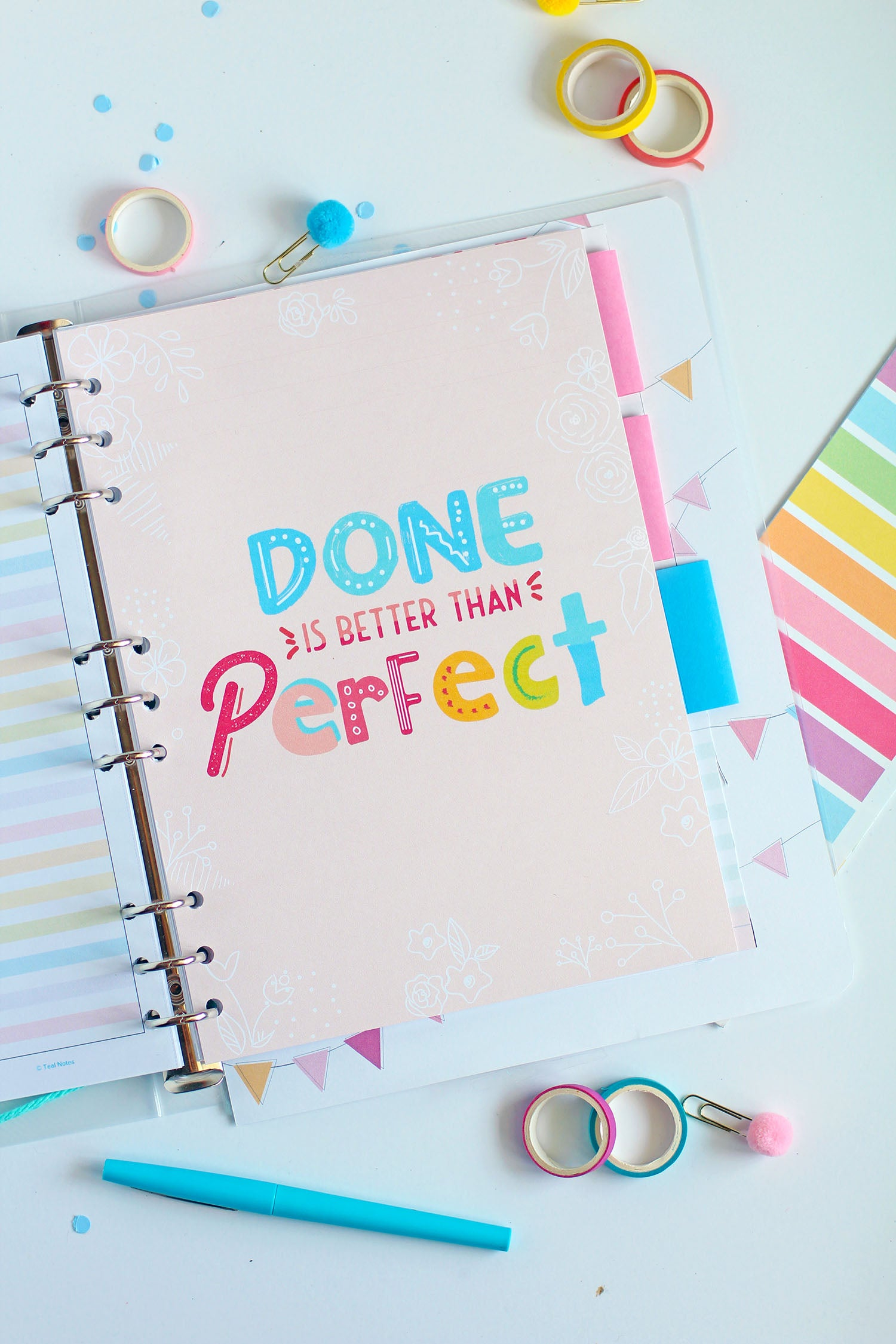 Done Is Better Than Perfect Planner Print