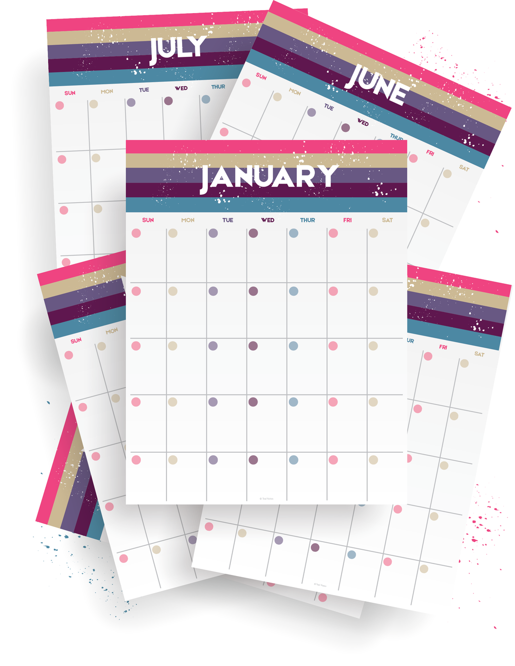 12 Month Fill In Calendar Kit