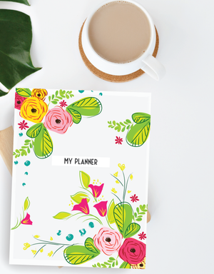 3 Page Floral Printable Planner Covers