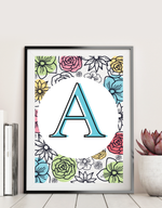 27 Page Flower Monogram Set