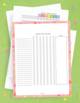10 Page Habit Tracker Printable Kit