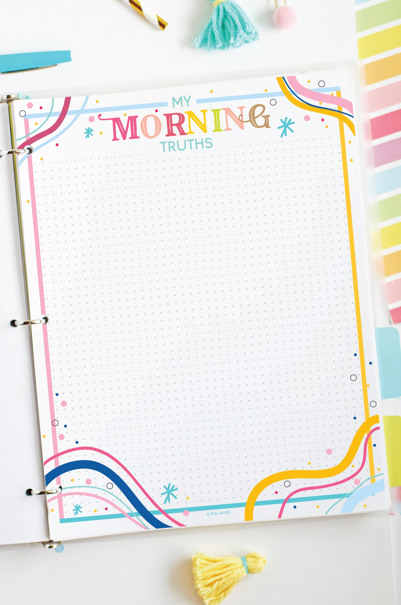 My Morning Truths Printable Planner Page