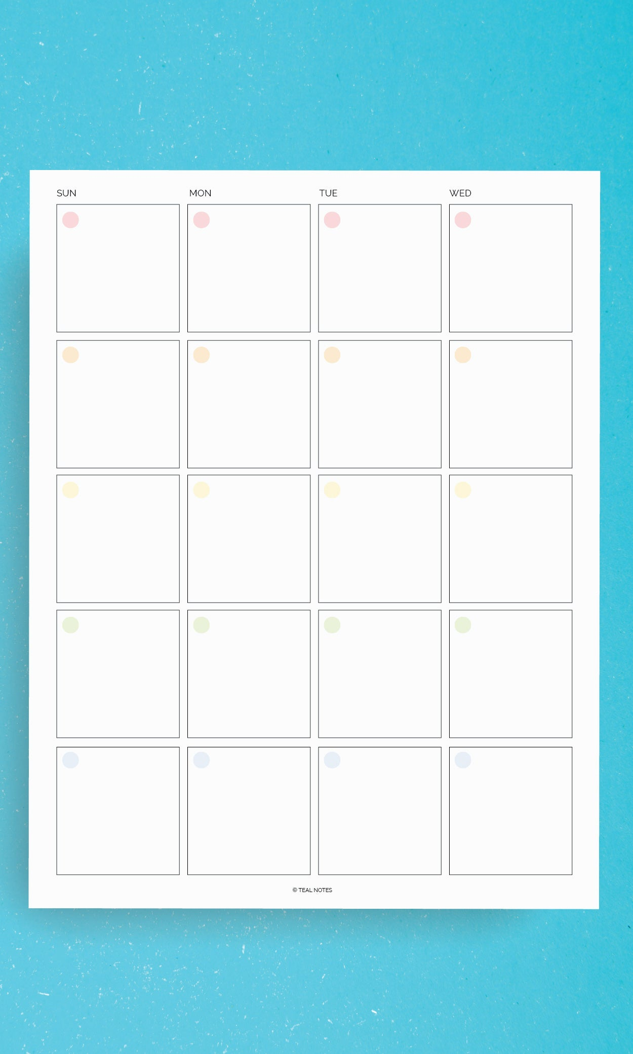 Printable Planner Pages 2 Page Monthly Spread