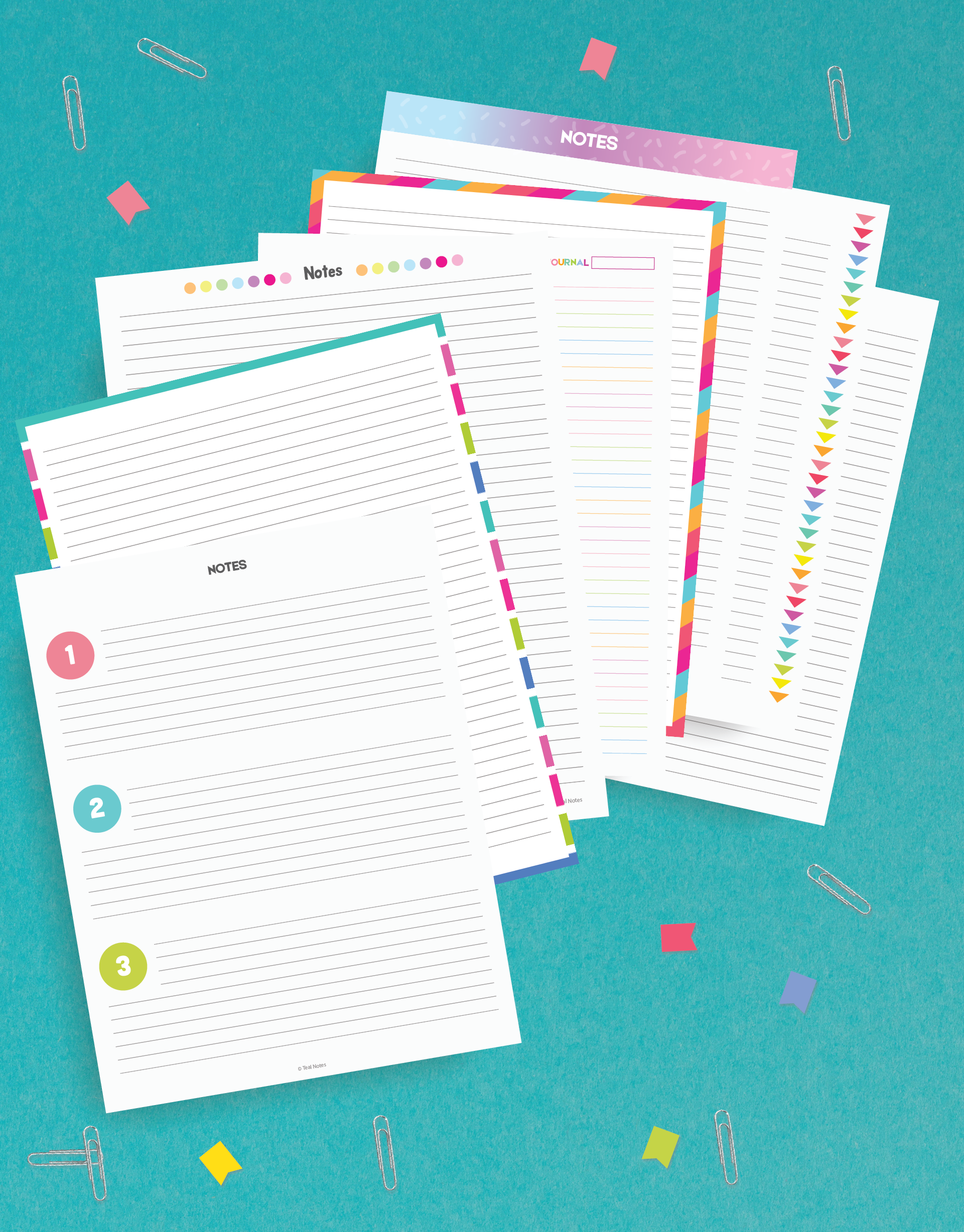 8 Page Notes Printable Kit