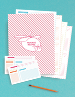 printable recipe planner management system