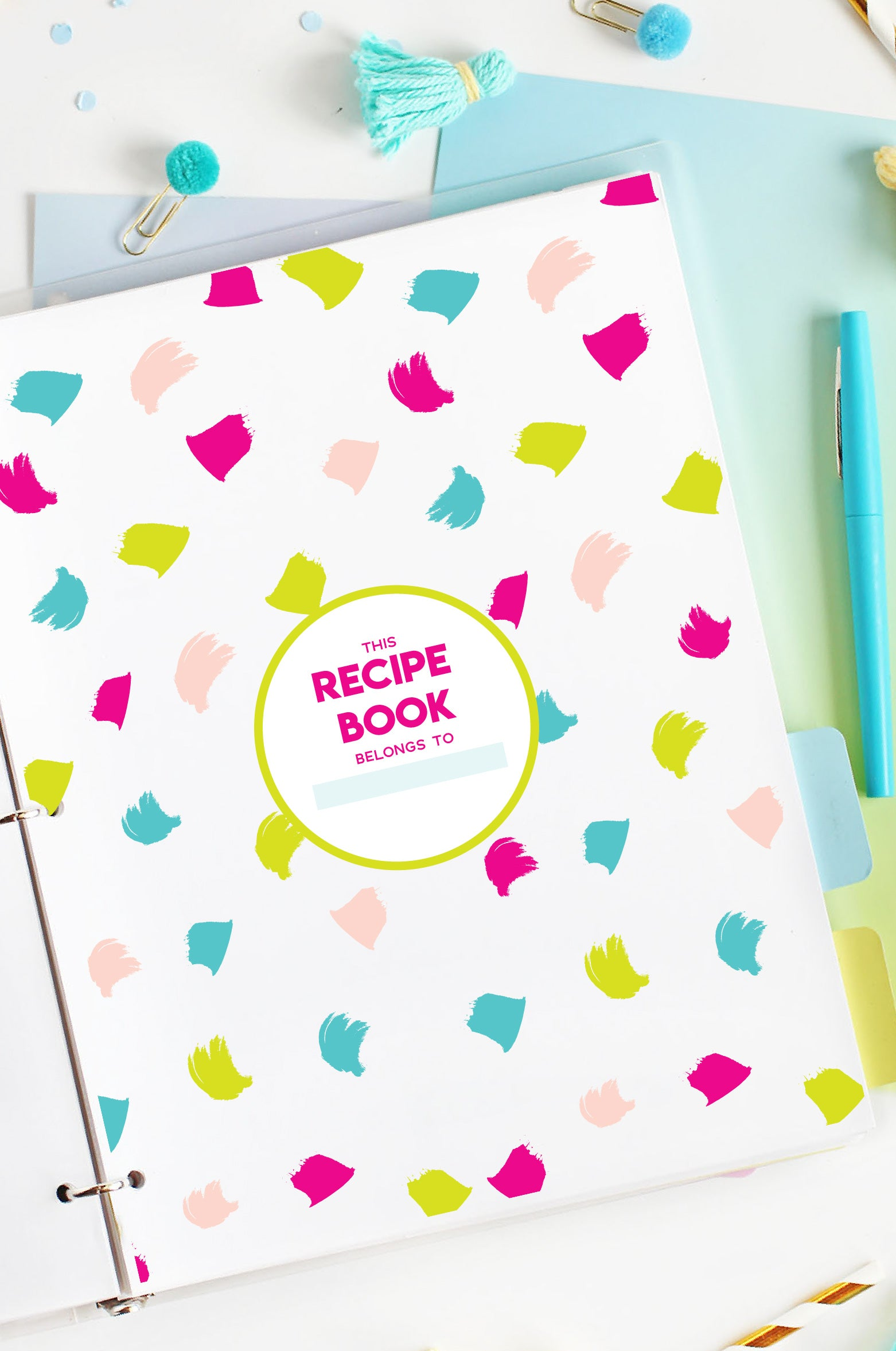 printable recipe pages cover