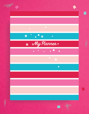 weekly planner printables cover page