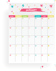 12 Month Fillable Calendar