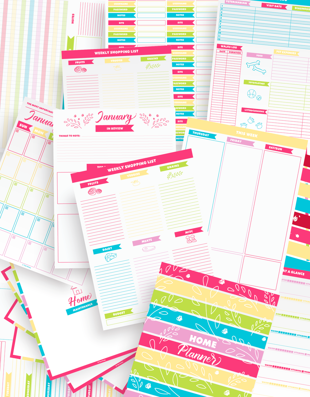 60+ Page Home Planner Kit