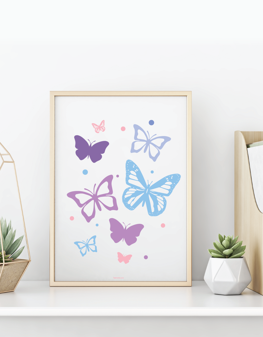 Butterfly wall art cutouts