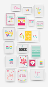 100 Page Wall Art Printable Kit!