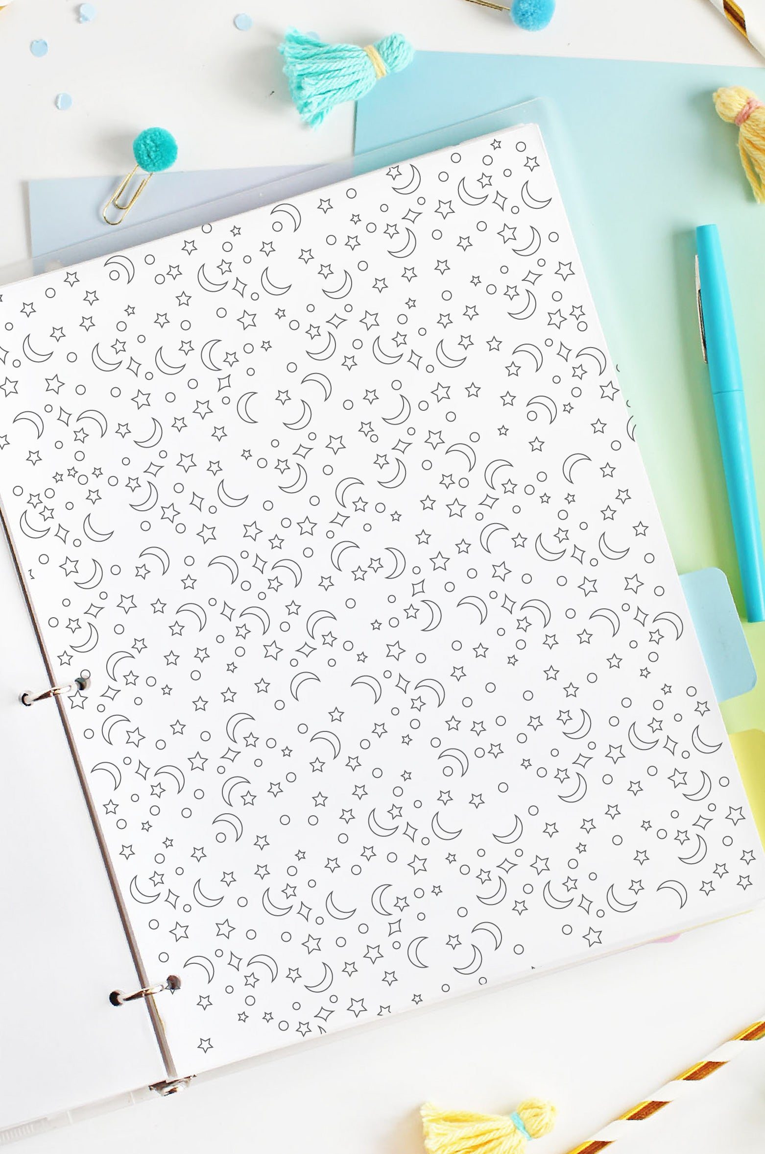 coloring page for printable dream journal