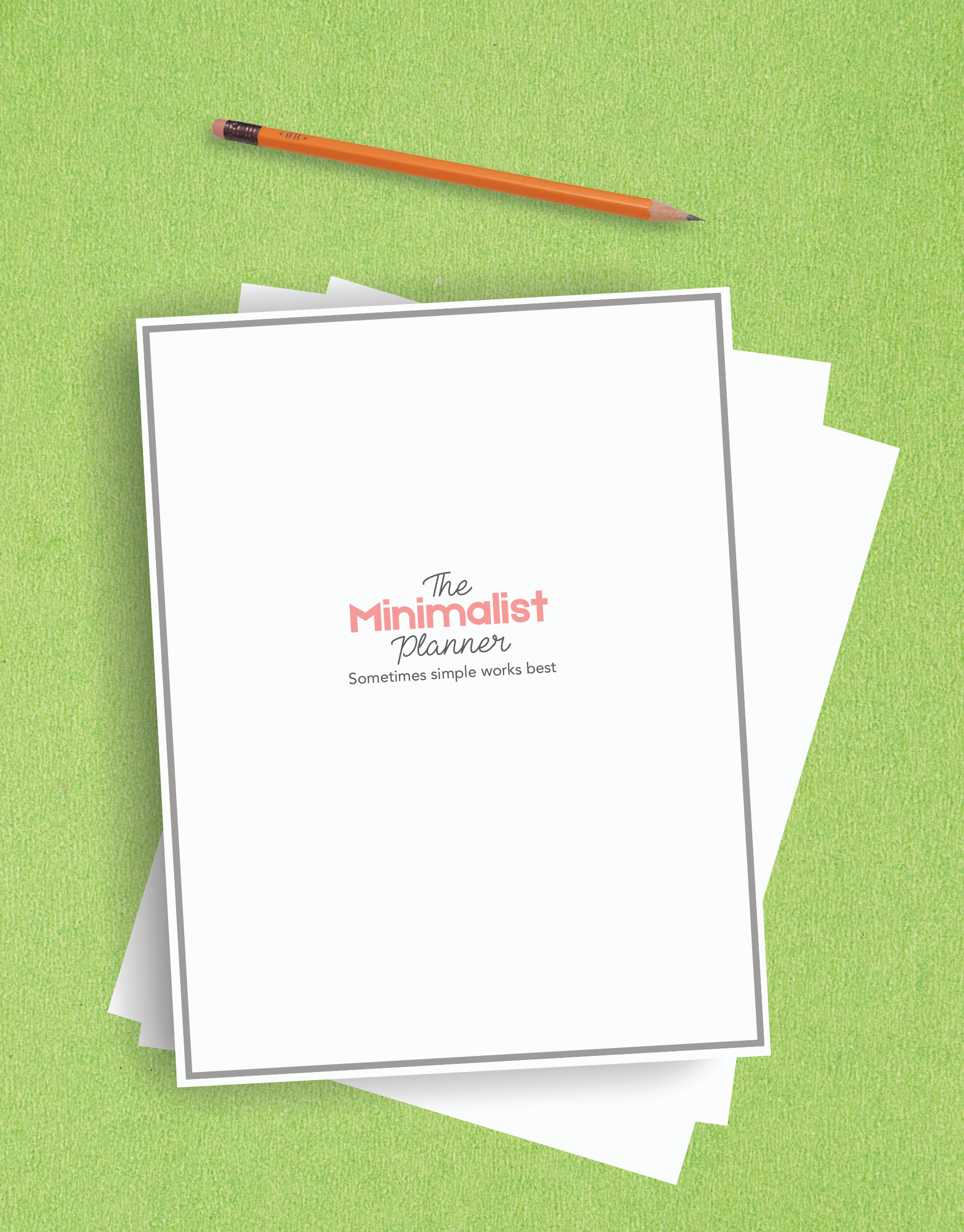 The Minimalist Planner Kit