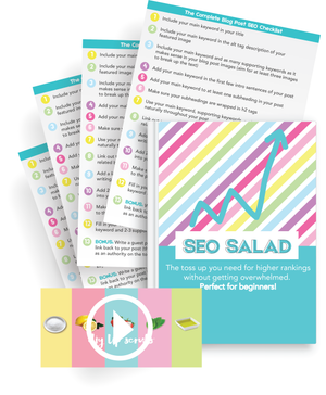 SEO Salad: Blogging Traffic Ebook And Printable Keyword Planner