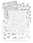 5 Page Fun Coloring Page Kit