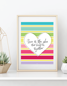 3 Page Heart Wall Art Set