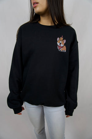 Subtle Corgi Black Sweatshirt