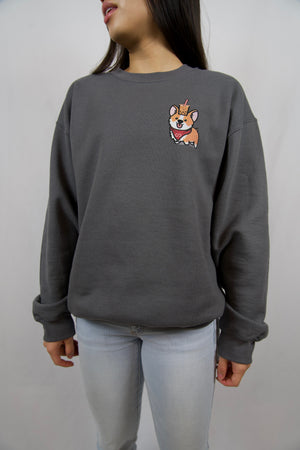 Subtle Corgi Charcoal Sweatshirt