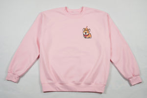 Subtle Corgi Light Pink Sweatshirt
