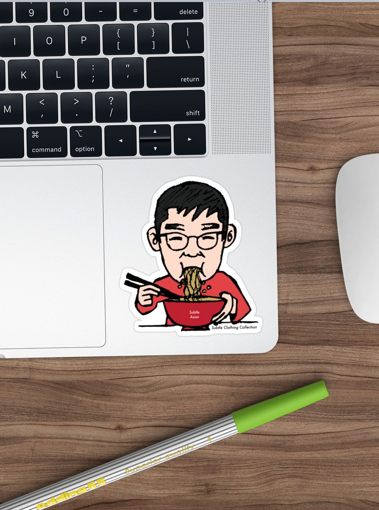 Subtle Asian Dad-Noodles Sticker