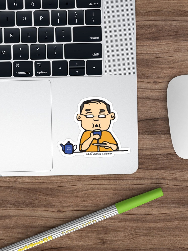Subtle Asian Dad-Tea Time Sticker