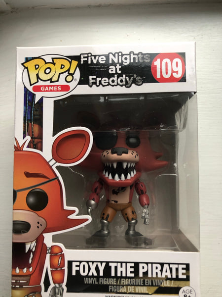 Five Nights at Freddy's Foxy The Pirate Funko pop #100