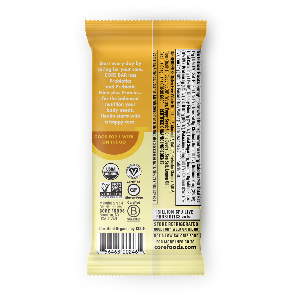 LEMON POPPY SEED, 8 bars, 2 oz.